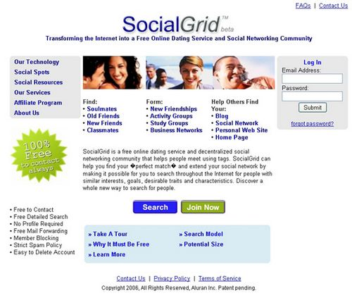 spam free dating site