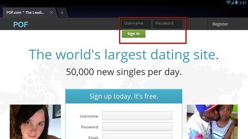 Pof dating site username